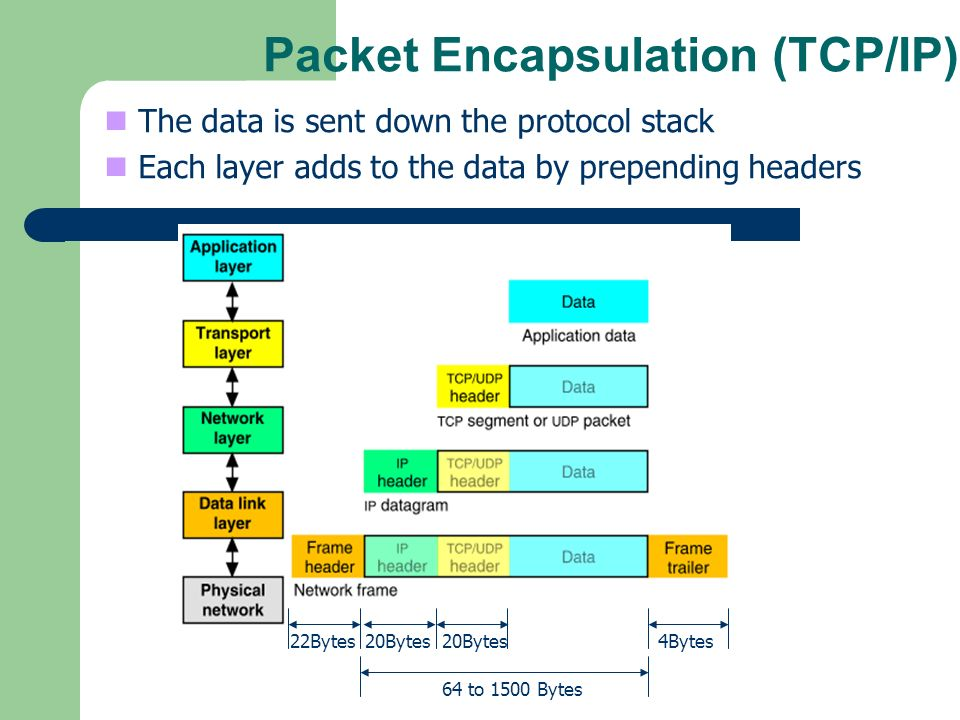 Packet Encapsulation (TCP/IP)