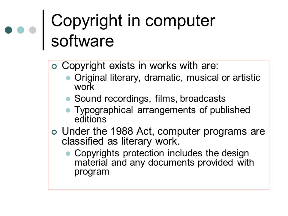 Copyright in computer software