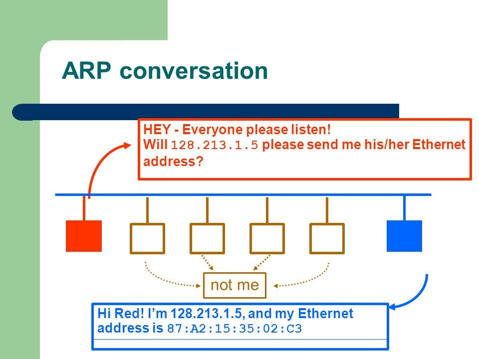 ARP conversation not me HEY - Everyone please listen!