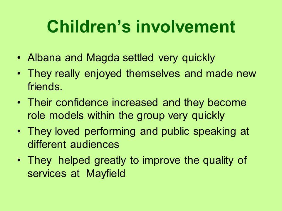 Children's involvement