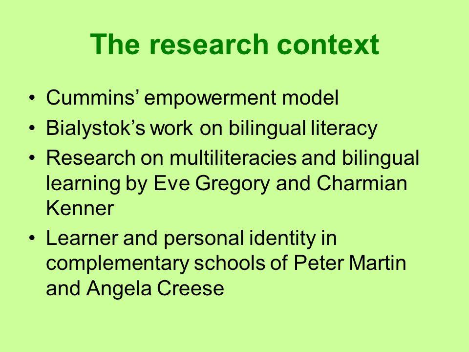 The research context Cummins' empowerment model