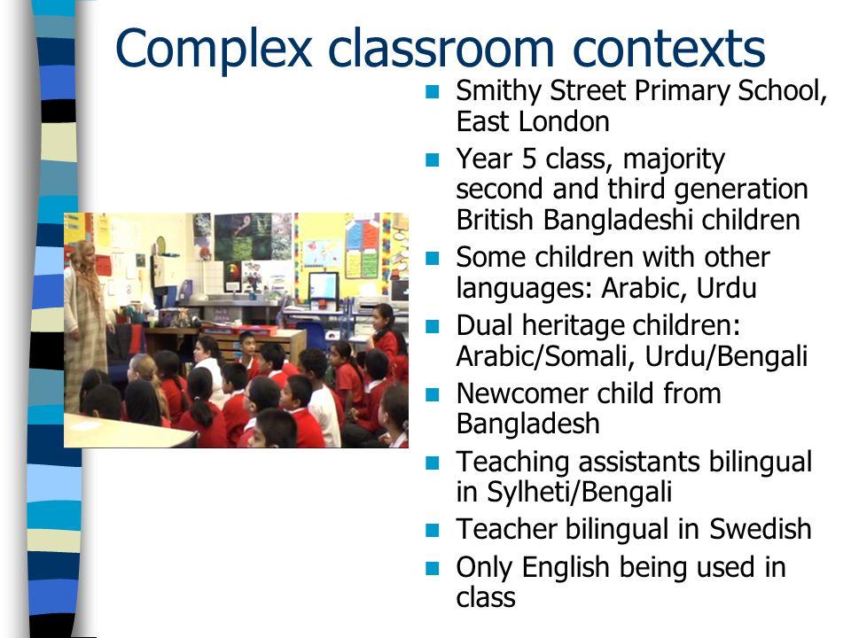 Complex classroom contexts