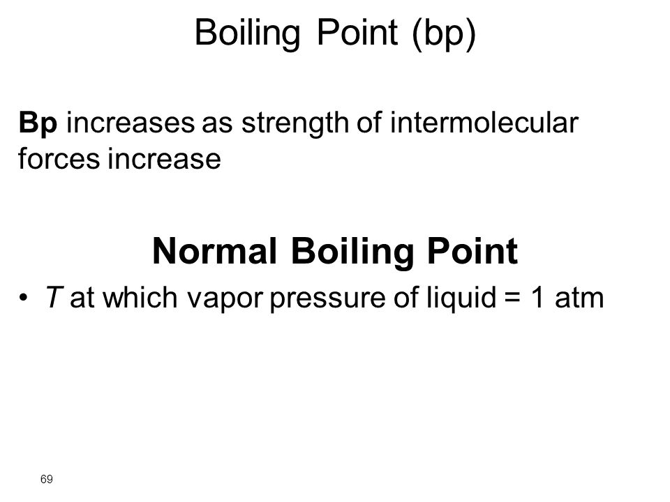 how to find normal boiling point