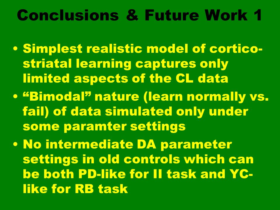 Conclusions & Future Work 1