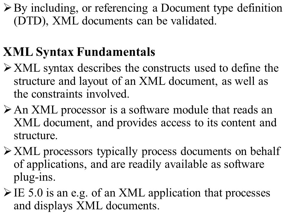 XML Syntax Fundamentals