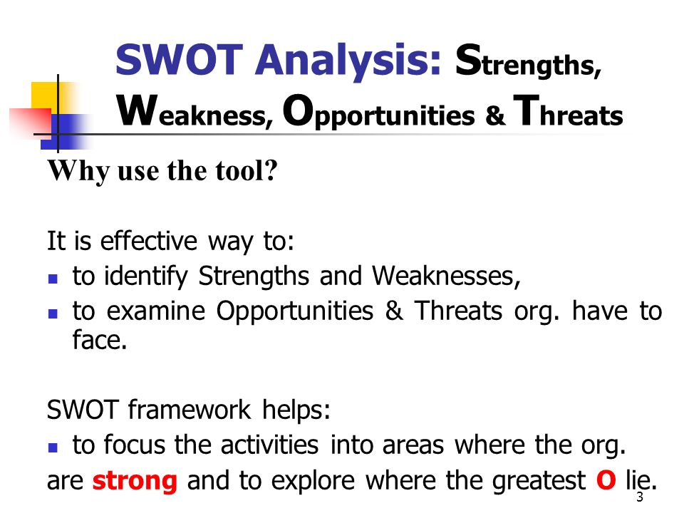 SWOT Analysis: Strengths, Weakness, Opportunities & Threats