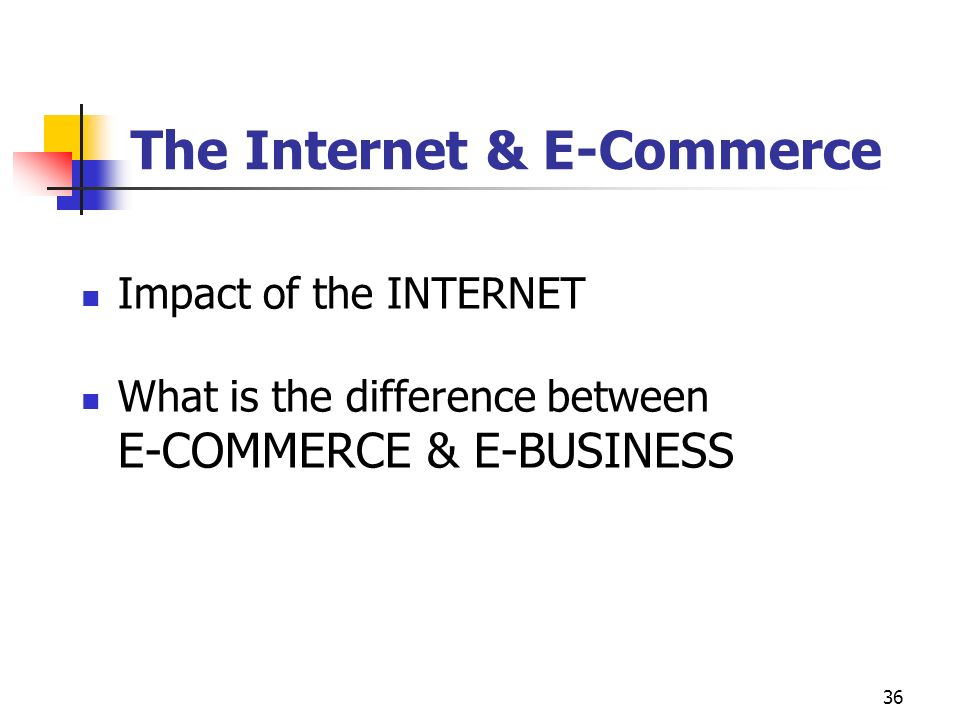 The Internet & E-Commerce