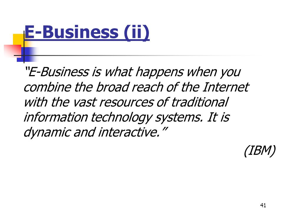 E-Business (ii)