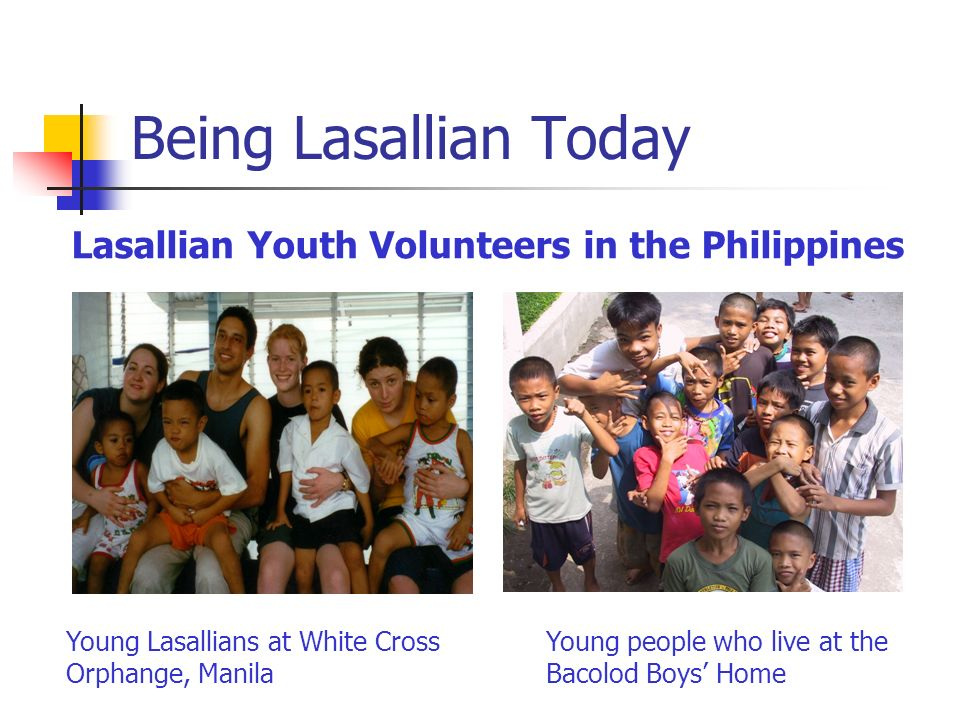 Lasallian Youth Volunteers in the Philippines