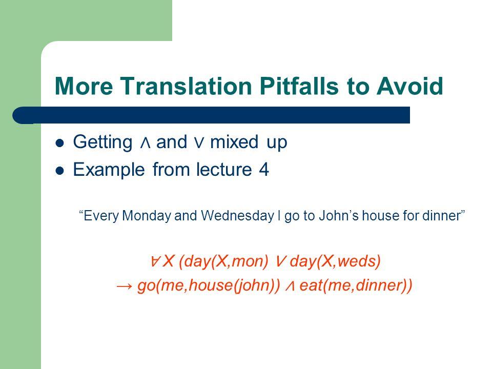 More Translation Pitfalls to Avoid
