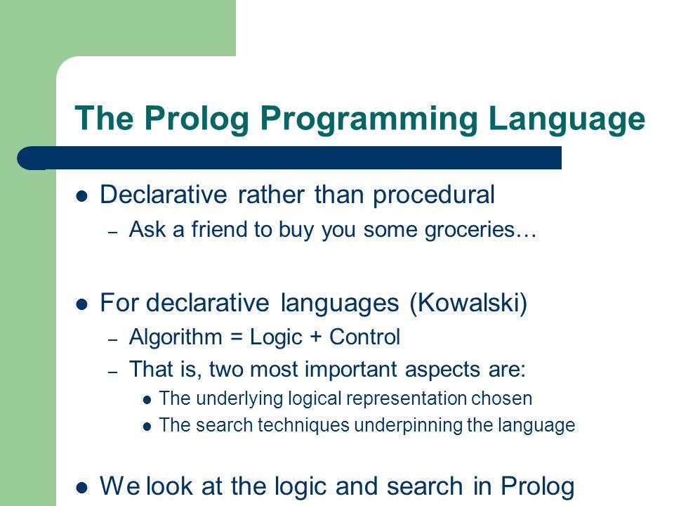 The Prolog Programming Language