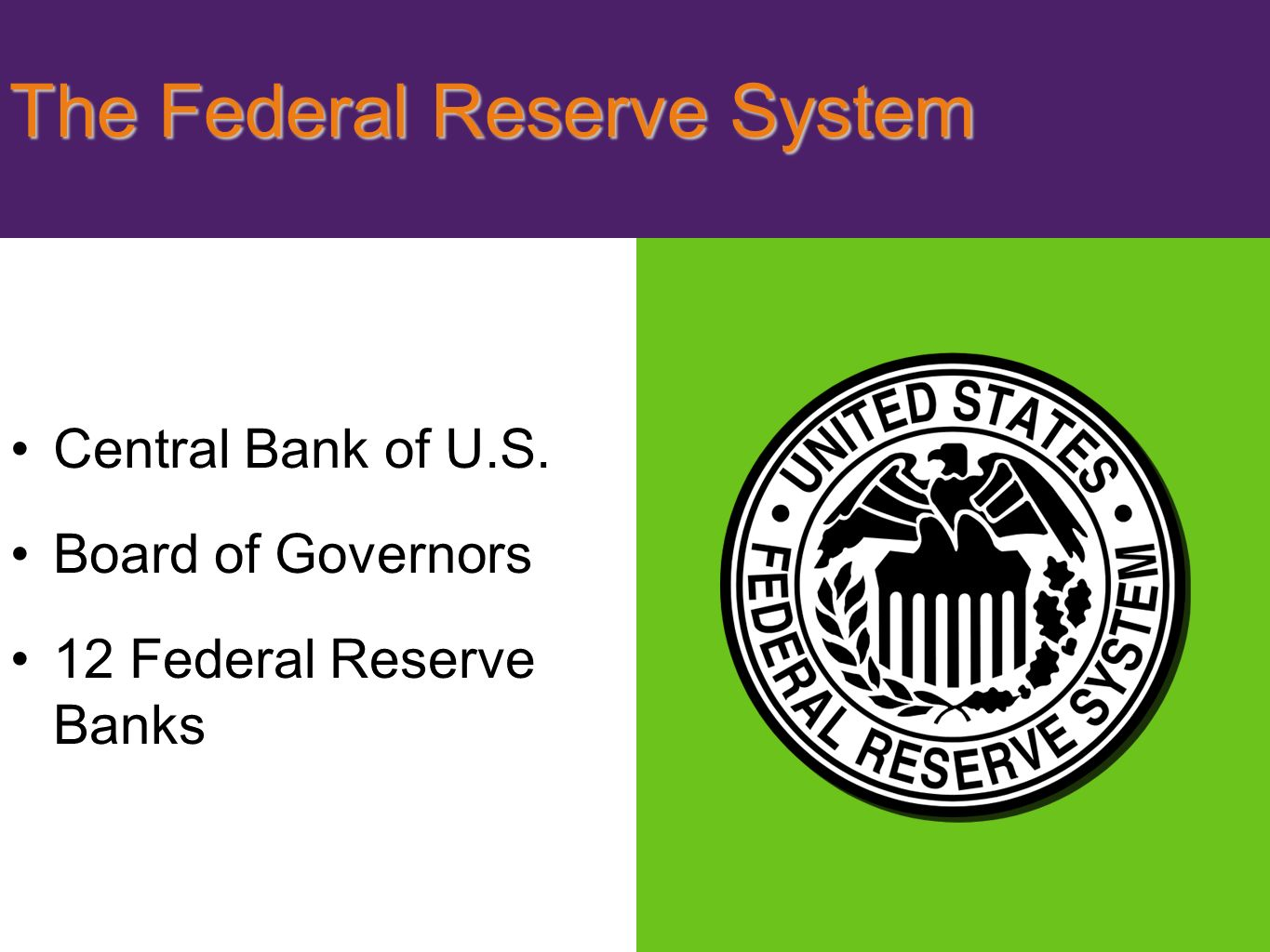 policy making and the federal system What are the tools of monetary policy the federal reserve's three instruments  for and supply of reserves in the banking system,  making a policy.