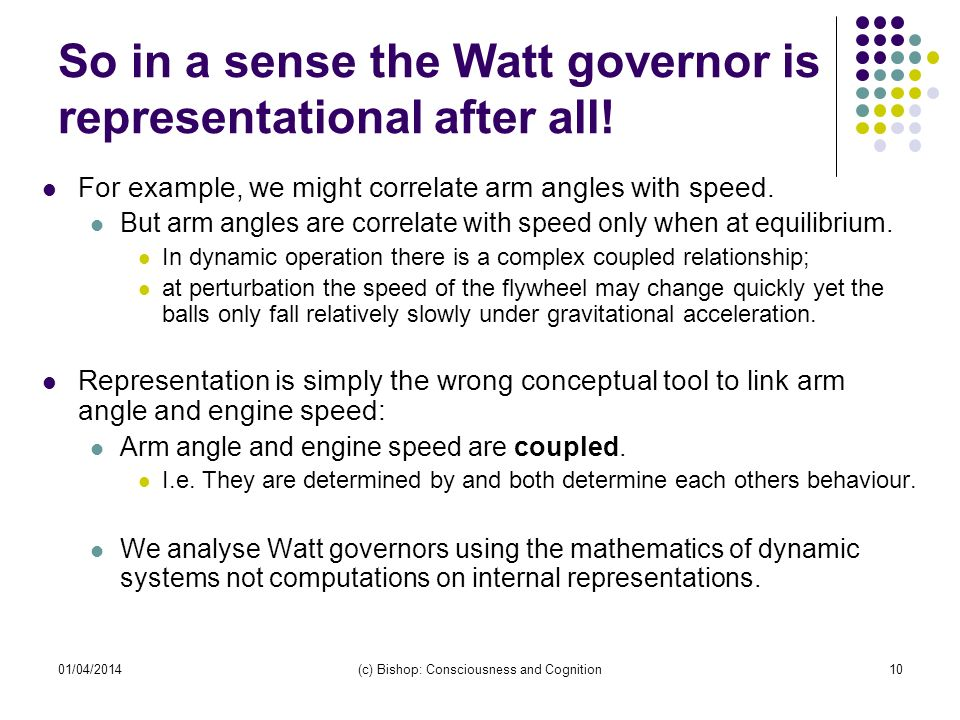So in a sense the Watt governor is representational after all!