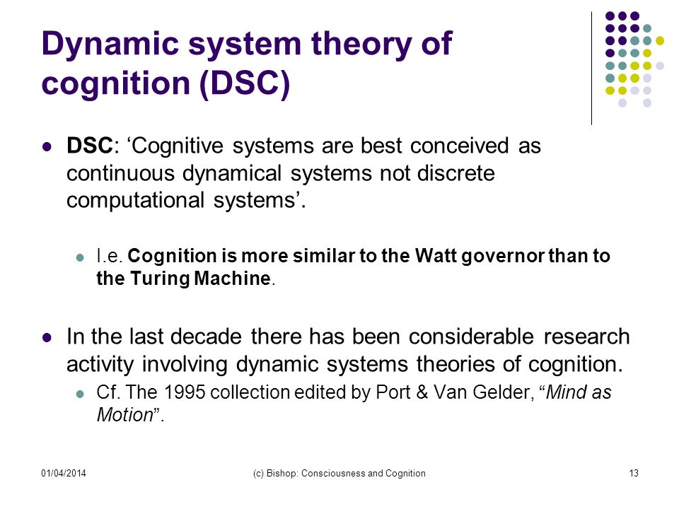 Dynamic system theory of cognition (DSC)
