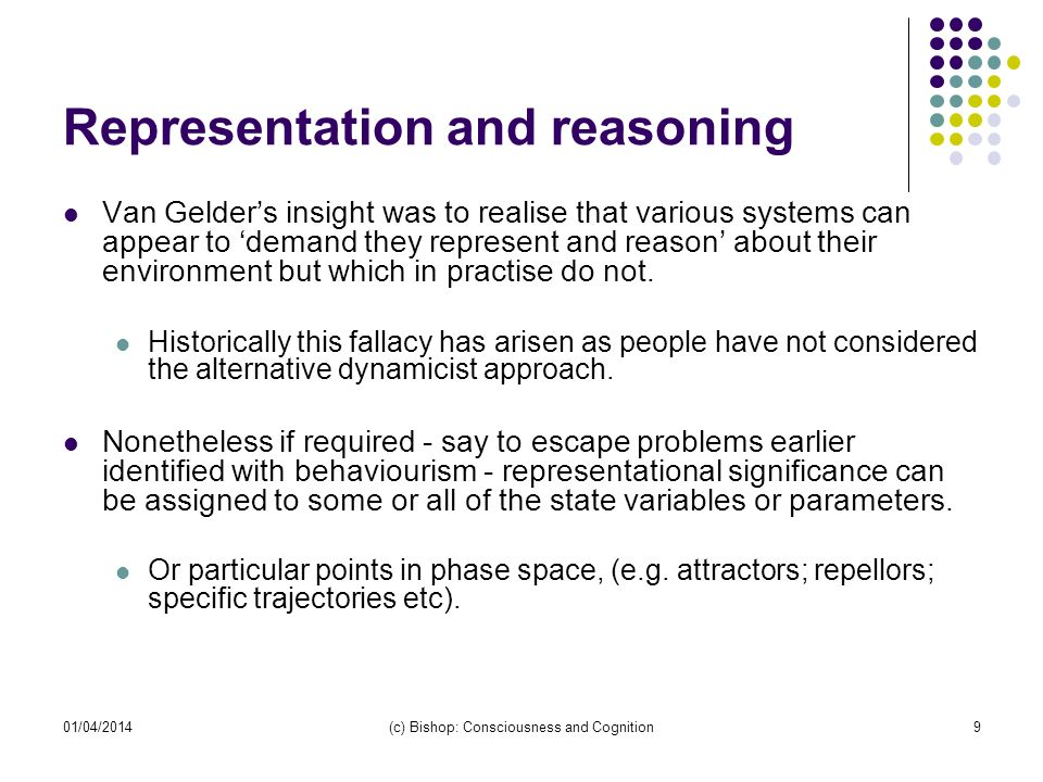 Representation and reasoning