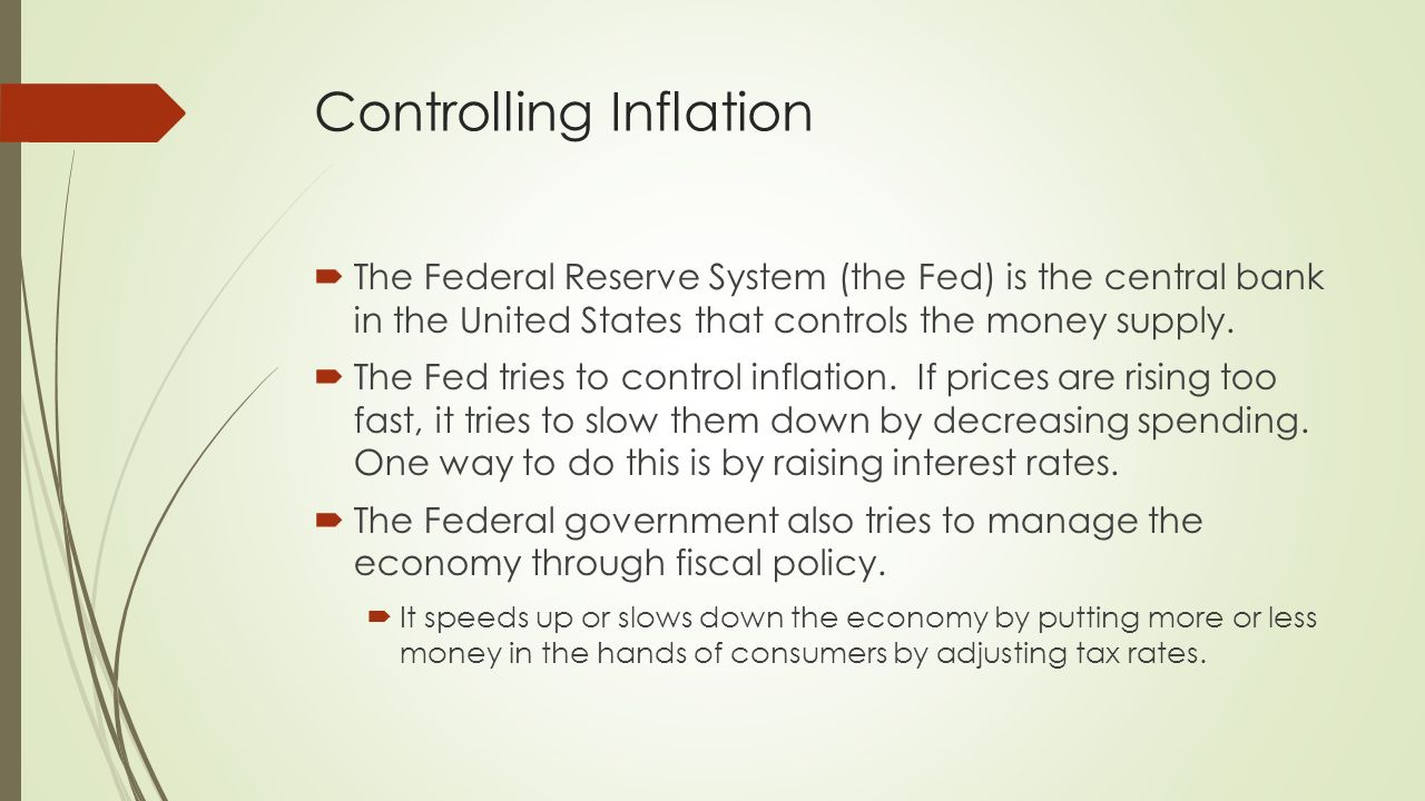 What methods can the government use to control inflation?