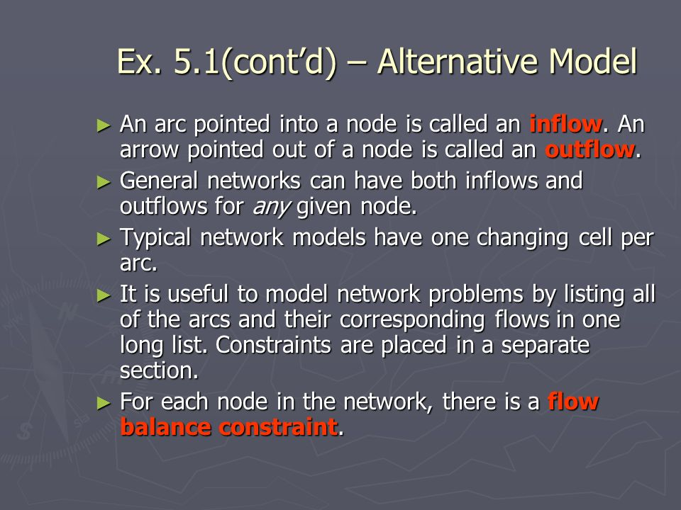 Ex. 5.1(cont'd) – Alternative Model