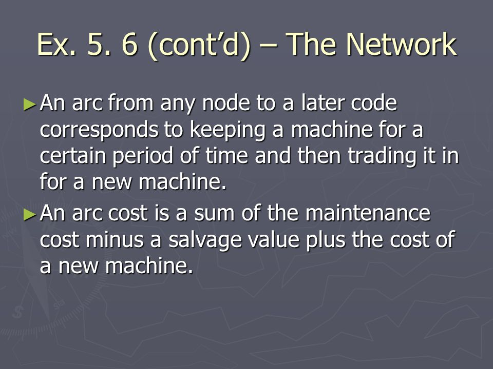 Ex. 5. 6 (cont'd) – The Network