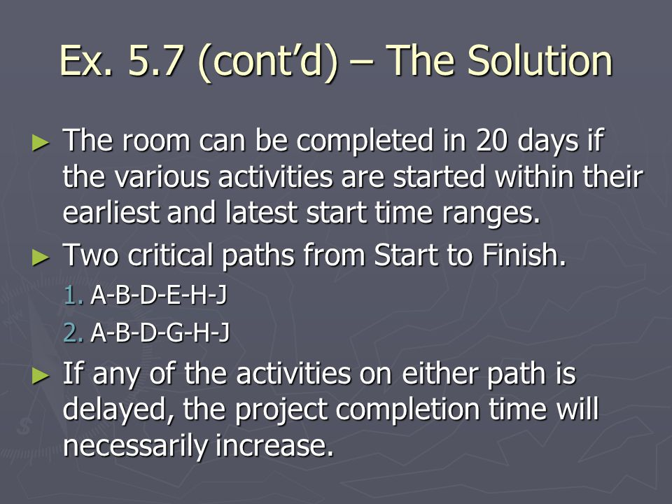 Ex. 5.7 (cont'd) – The Solution