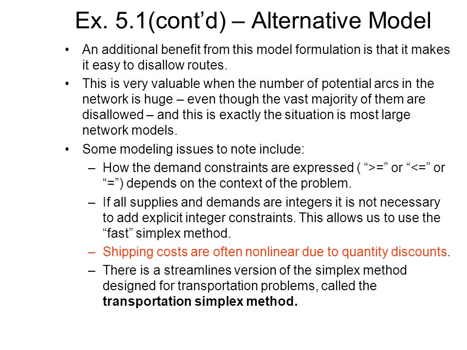 Ex. 5.1(cont'd) – Alternative Model