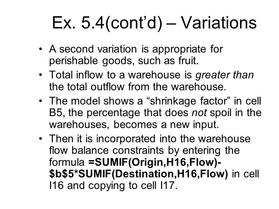Ex. 5.4(cont'd) – Variations