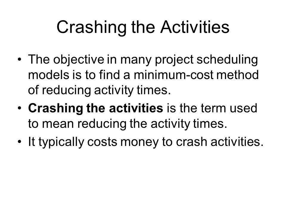 Crashing the Activities