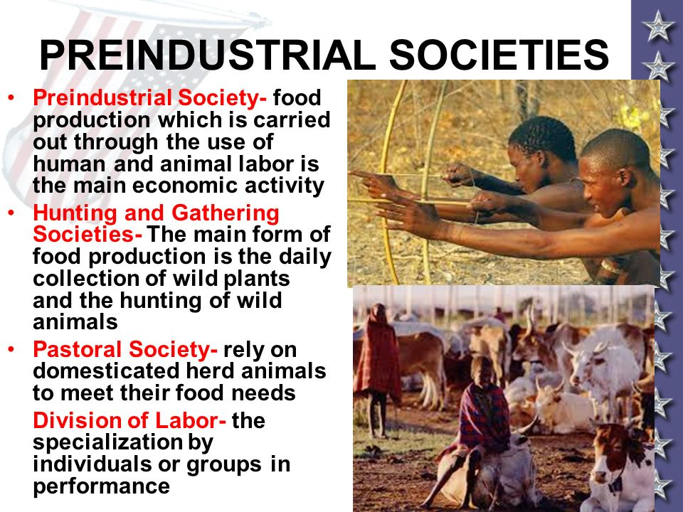 PREINDUSTRIAL SOCIETIES