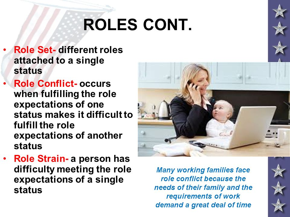 ROLES CONT. Role Set- different roles attached to a single status