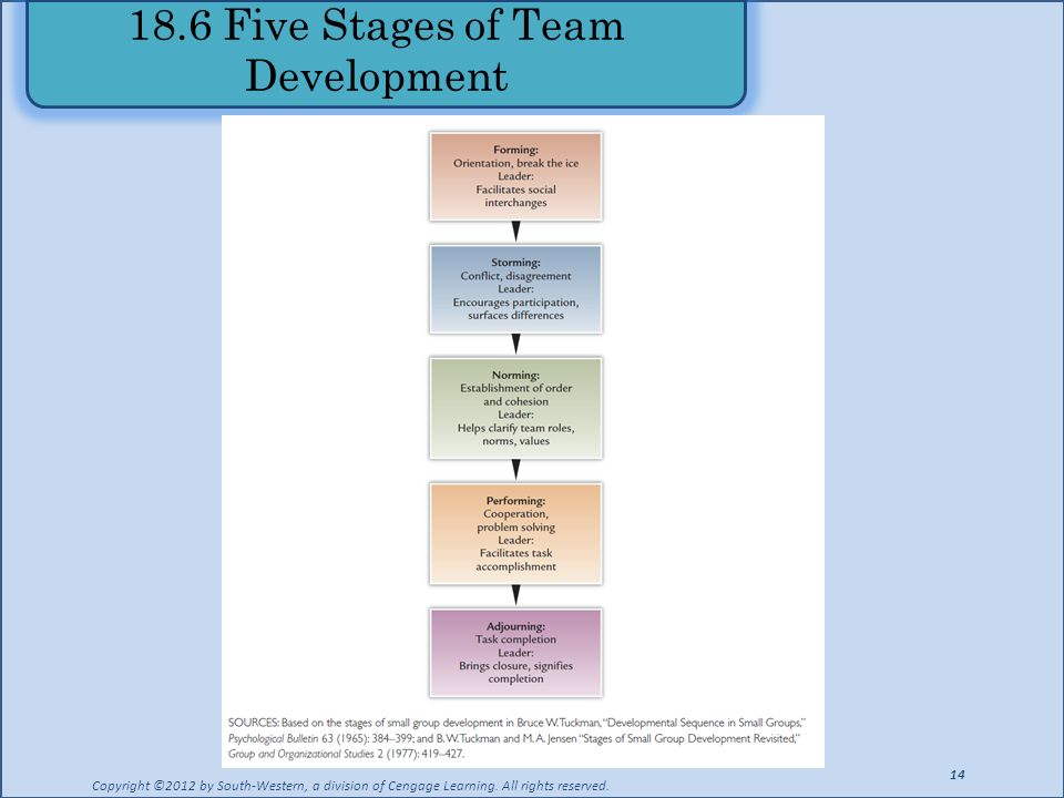 18.6 Five Stages of Team Development