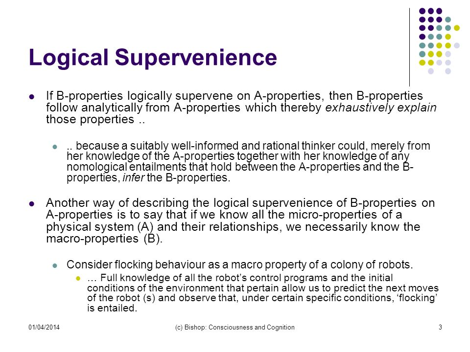 Logical Supervenience