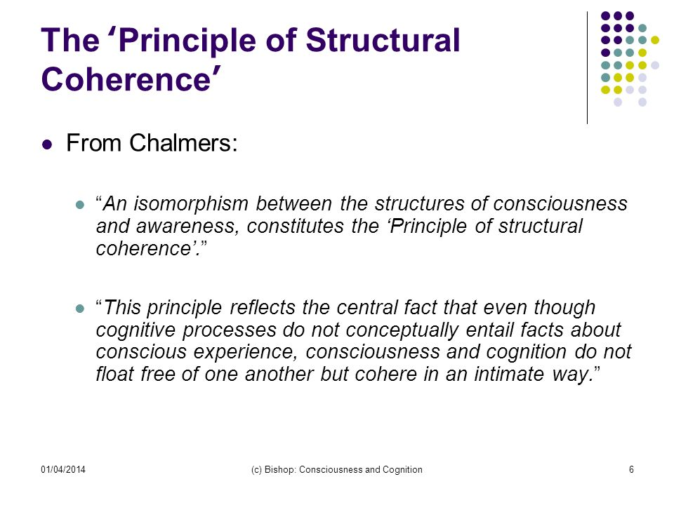 The 'Principle of Structural Coherence'