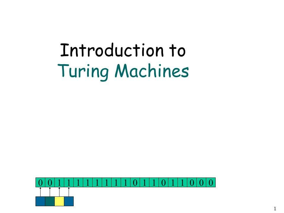 Introduction to Turing Machines