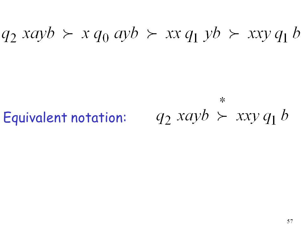 Equivalent notation: