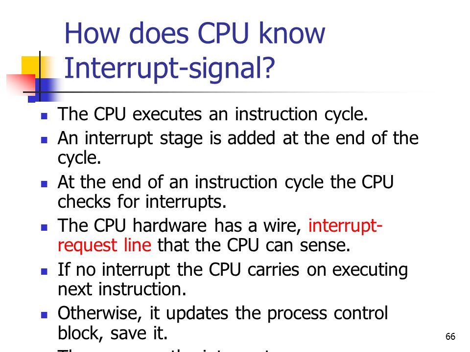 How does CPU know Interrupt-signal