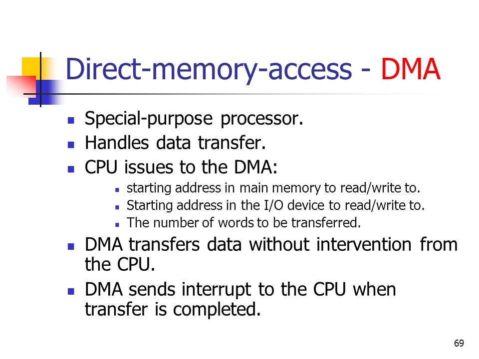 Direct-memory-access - DMA