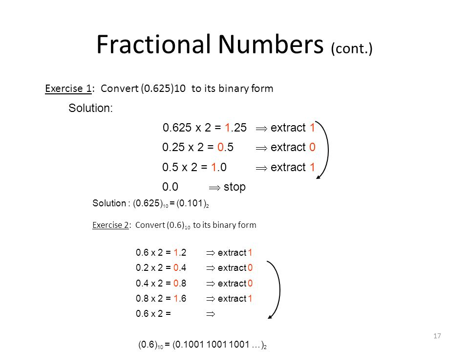 Fractional Numbers (cont.)