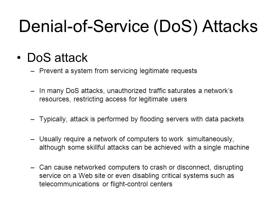 Denial-of-Service (DoS) Attacks