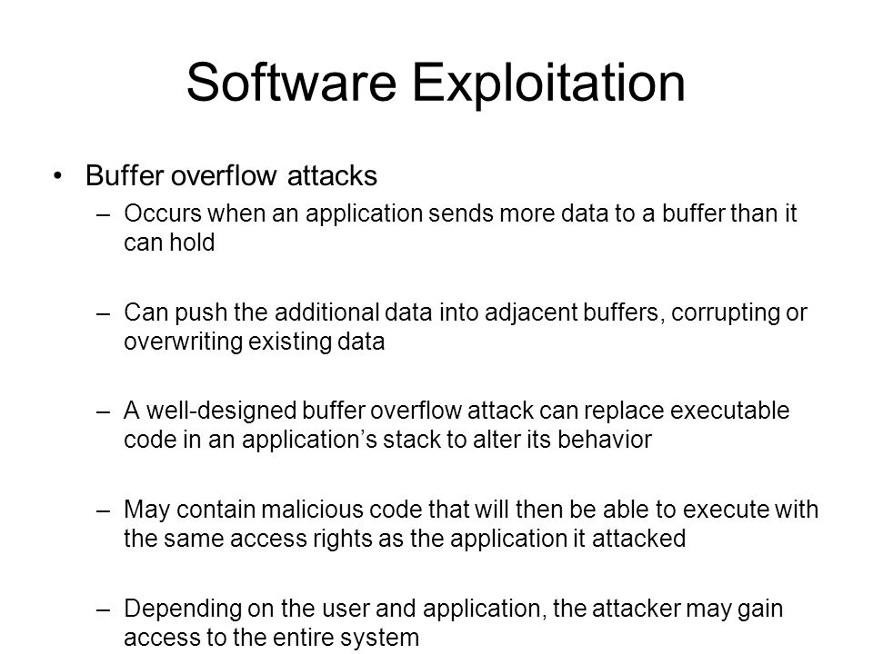 Software Exploitation