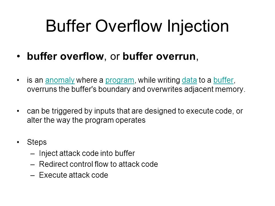 Buffer Overflow Injection