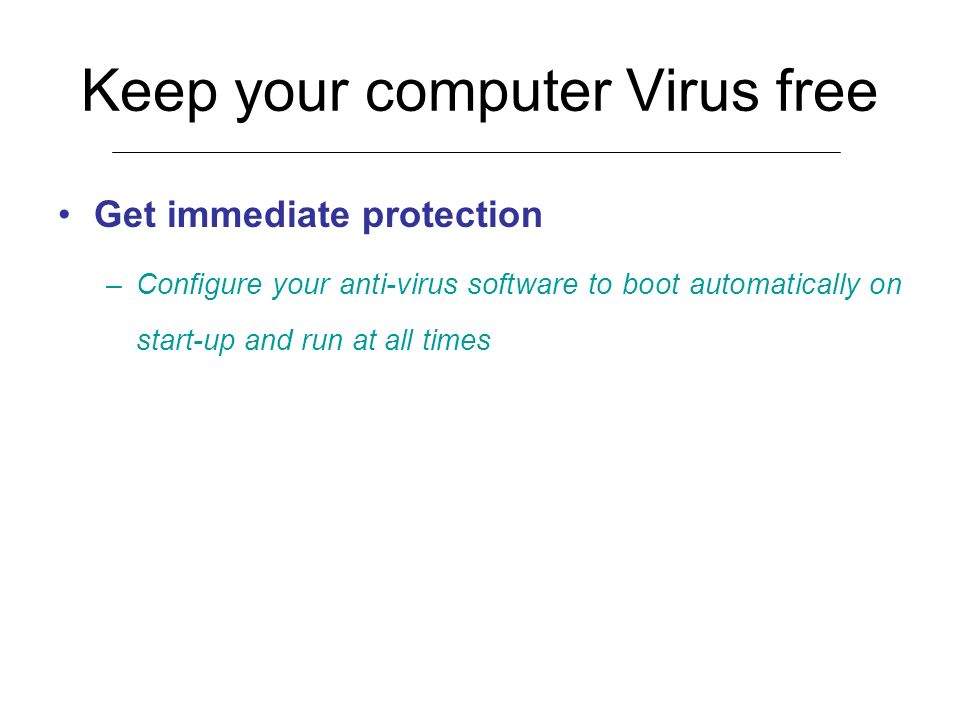 Keep your computer Virus free
