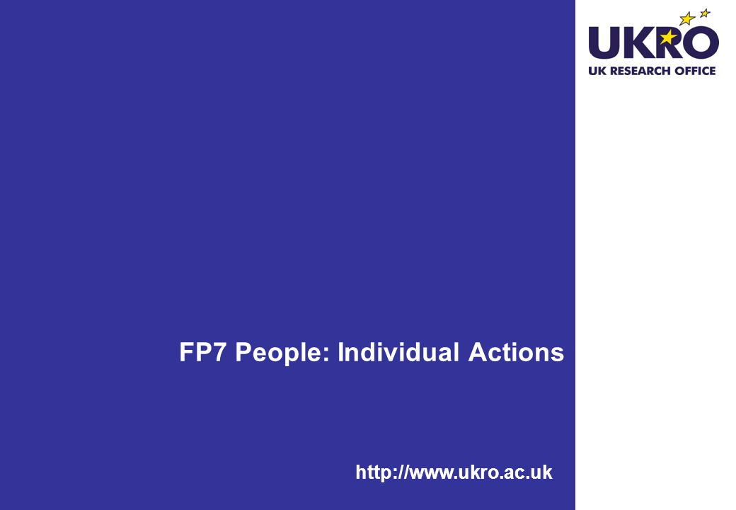 FP7 People: Individual Actions