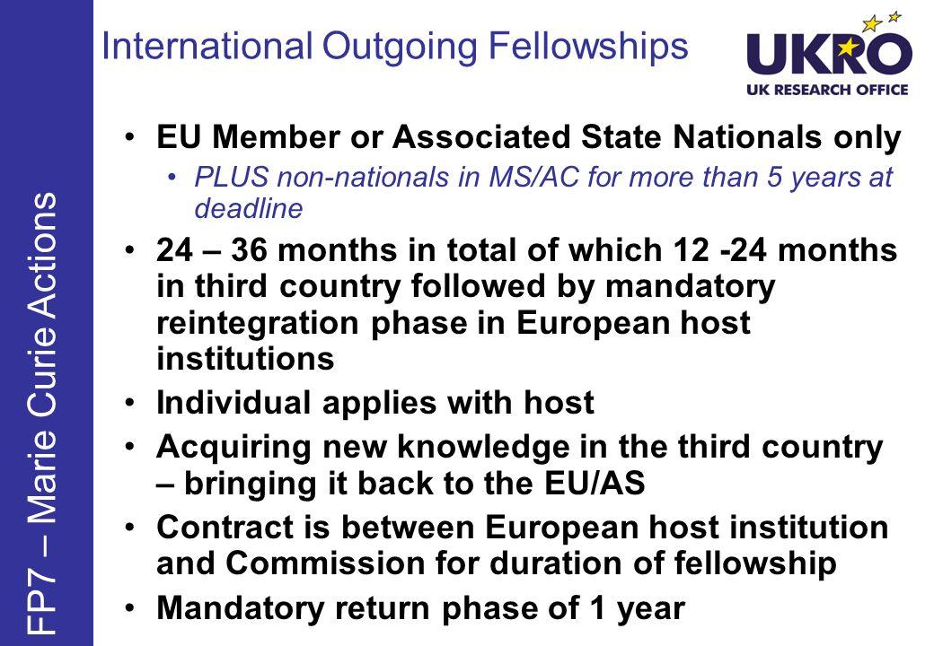 International Outgoing Fellowships