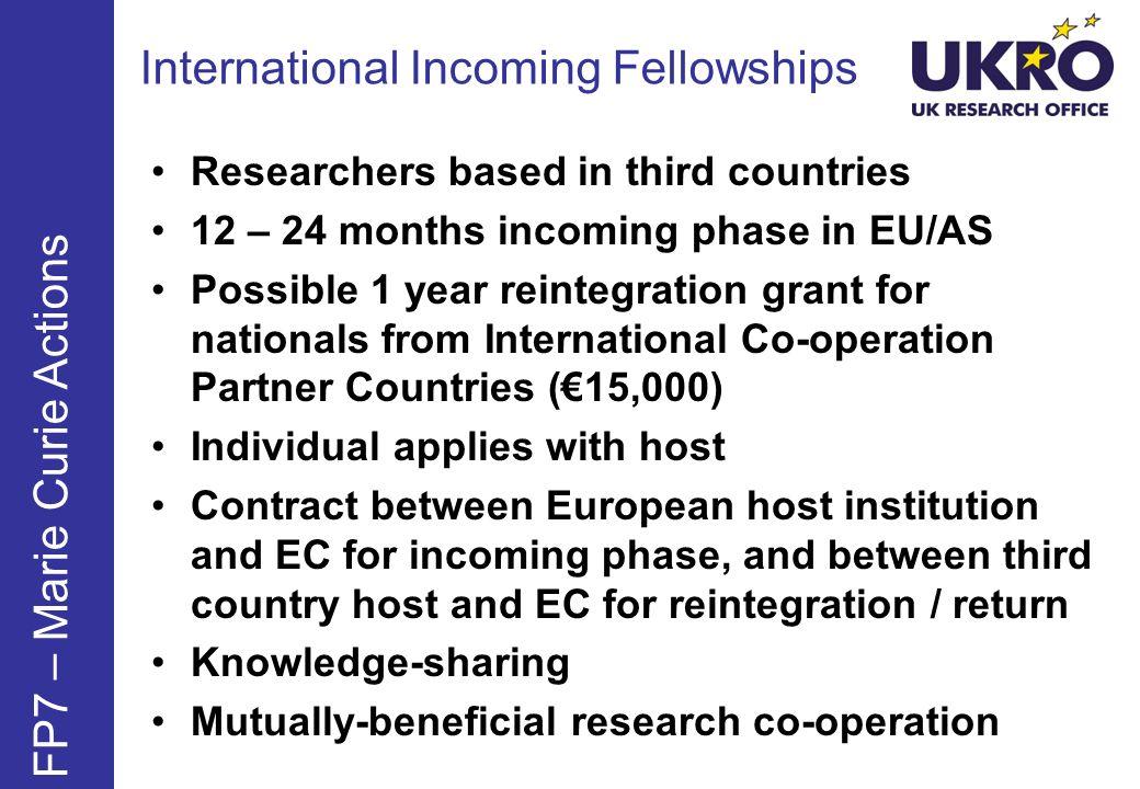 International Incoming Fellowships