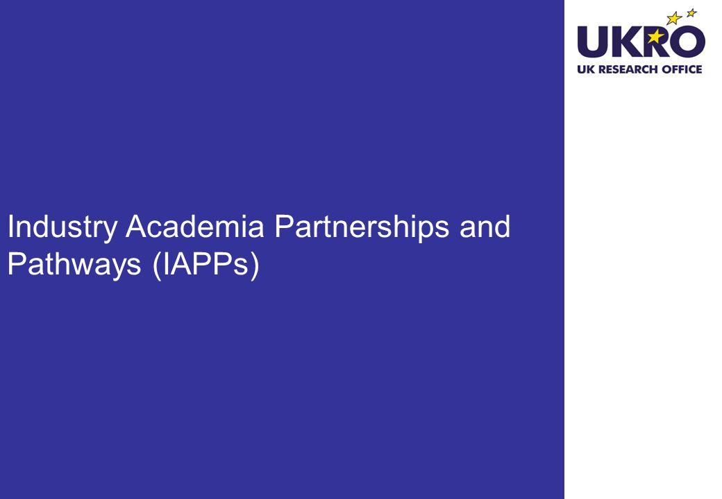 Industry Academia Partnerships and Pathways (IAPPs)