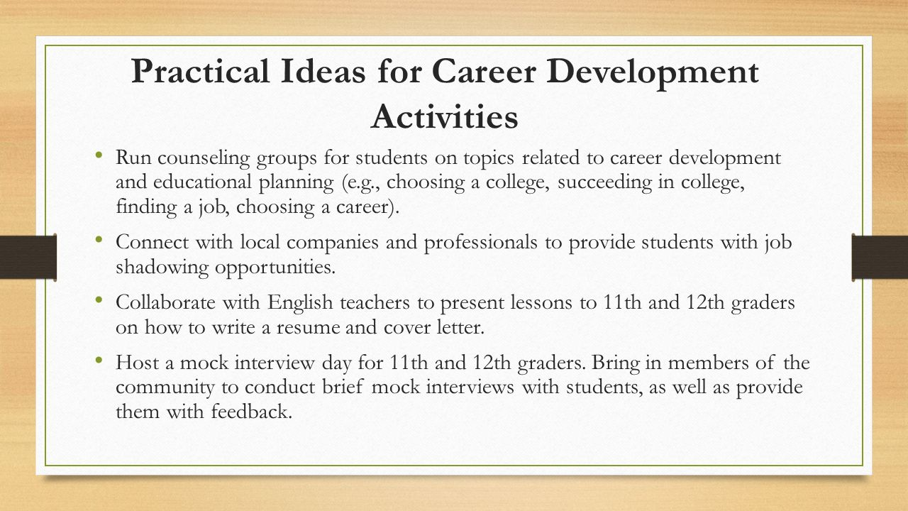 Promoting Educational And Career Planning In Schools Ppt Video