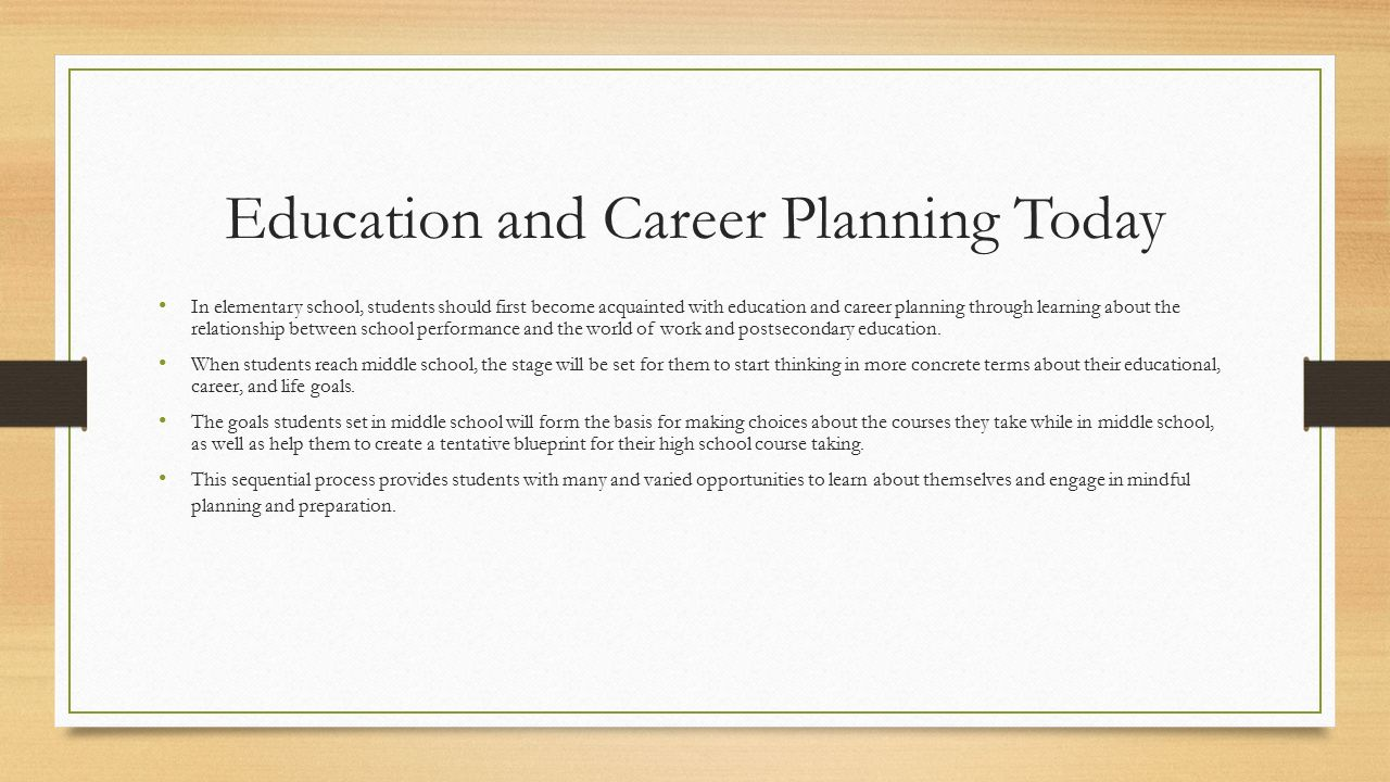 Promoting educational and career planning in schools ppt video 6 education malvernweather Choice Image