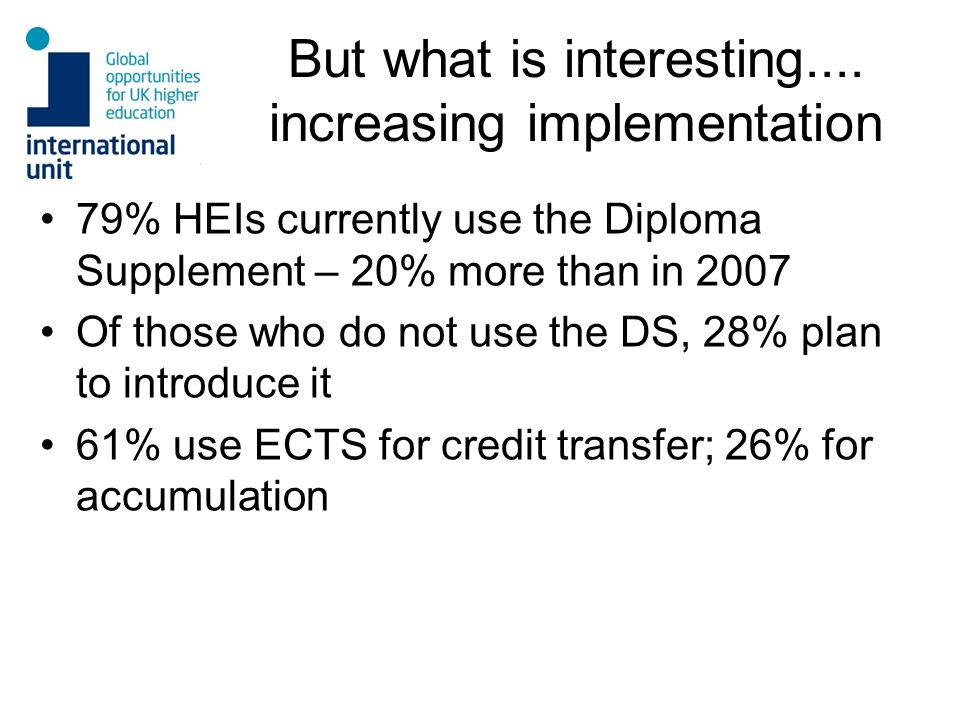 But what is interesting.... increasing implementation