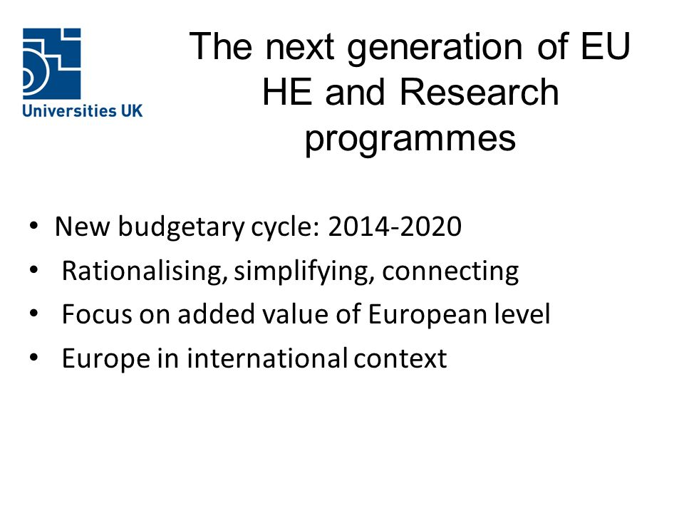 The next generation of EU HE and Research programmes