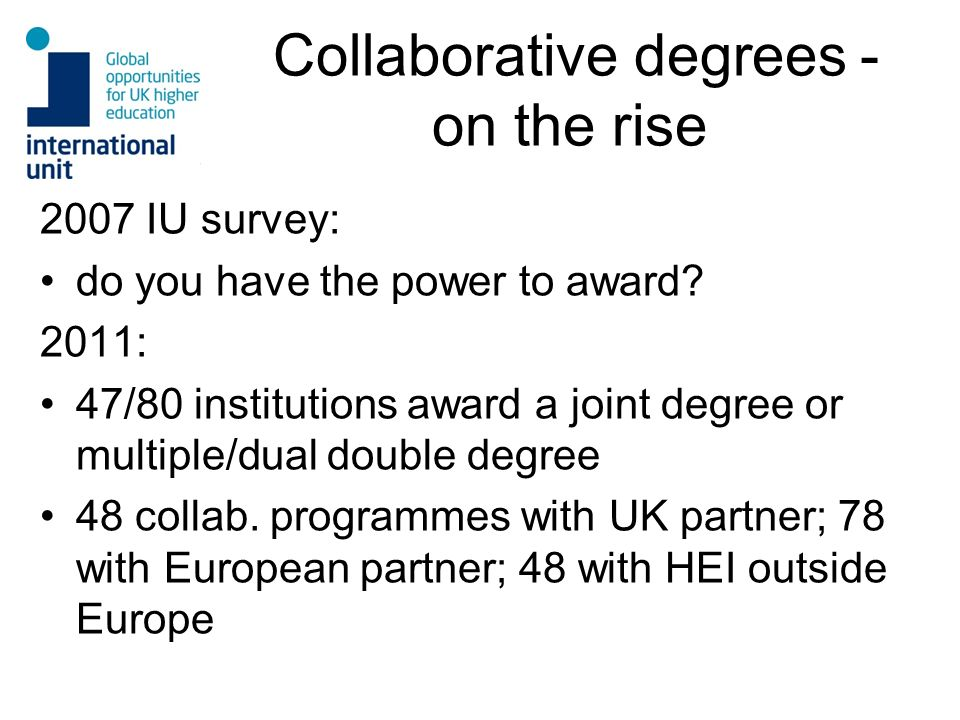 Collaborative degrees - on the rise
