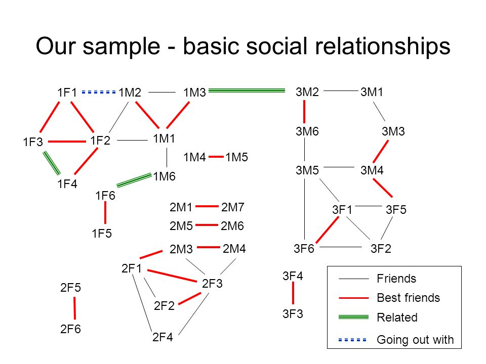 Our sample - basic social relationships